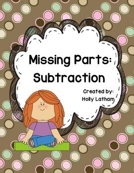 Common Core (OA8) Missing Parts: Subtraction