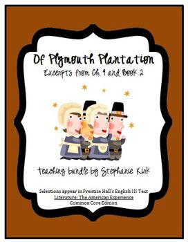 "Common Core ""Of Plymouth Plantation"" Lesson Plan, Reading"