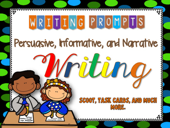 Writing Prompts: PIN Persuasive Informative Narrative Writing