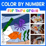 Color by Number (third grade) Color by Multiplication & Division