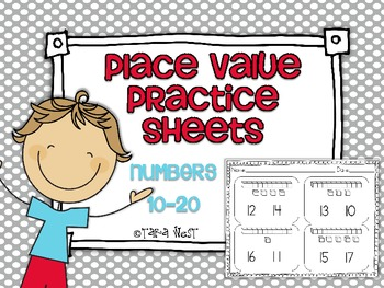 Common Core Place Value Practice Sheets {Numbers 10-20}
