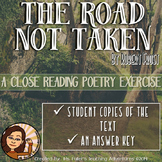 Common Core Poetry Practice Grades 6-8: The Road Not Taken