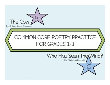 Rossetti and Stevenson Common Core Poetry Practice for Grades 1-3