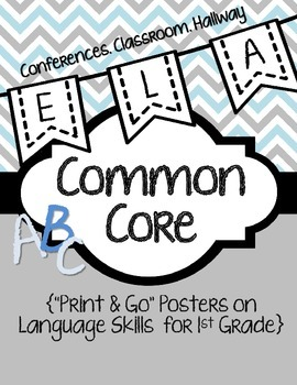 Common Core Poster Packet {1st Grade Language}