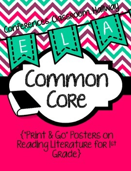 Common Core Poster Packet {1st Grade Reading: Literature}