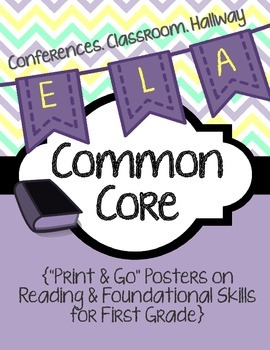 Common Core Poster Packet {1st Grade Reading: Foundational
