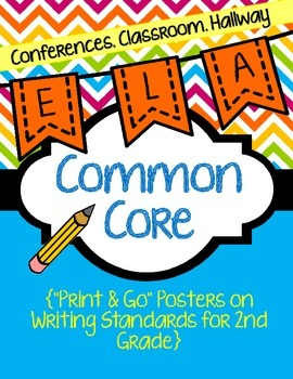 Common Core Poster Packet {2nd Grade Writing}