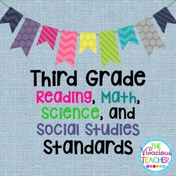 Common Core Posters Bundle Third Grade Reading, Math, Scie
