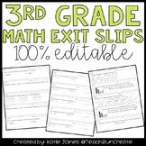 Common Core Quick Math Assessments {3rd Grade Exit Slips}