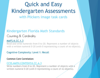 Common Core Quick and Easy Assessments (using Plickers)-re