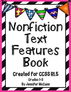 Common Core RI.5 Nonfiction Text Features Booklet for Grades 1-3