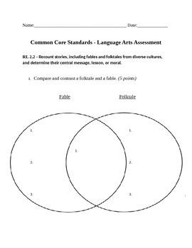 Common Core RL 2.2 Assessment