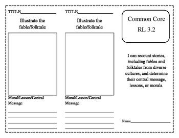 Common Core RL 3.2 Trifold & Foldable