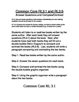 Common Core RL3.1 and RL3.9