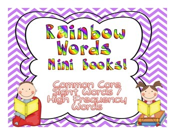 Common Core Rainbow Words DOLCH Mini-Books Companion{High