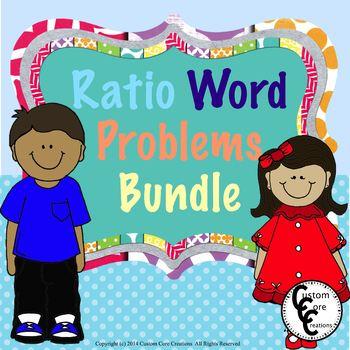 Common Core Ratio Word Problems Bundle