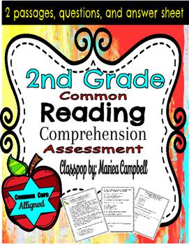 Common Core Reading Assessment 2nd Grade RL.2 Reading Pass