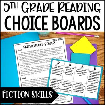Common Core Reading Choice Boards {Literature: 5th Grade}