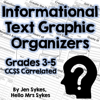 Informational Text Comprehension Graphic Organizers - CCSS