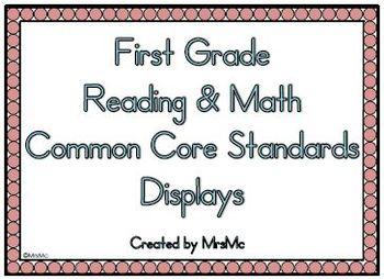 Common Core Reading & Math Displays (1st Grade)
