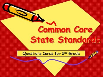 Common Core Reading Question Cards for 2nd Grade
