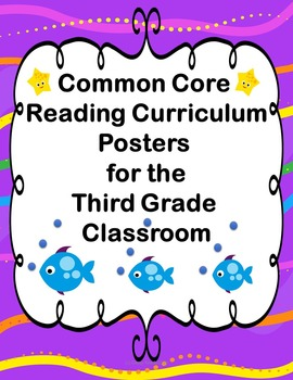 Common Core Reading Standards Posters for Third Grade