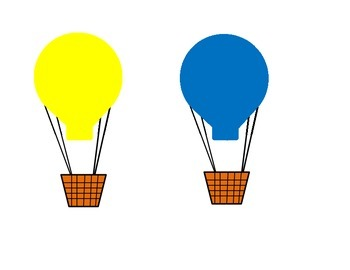 Air Balloons in different colors
