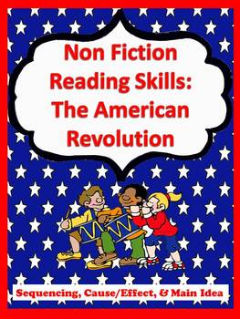 The American Revolution Reading Packet with Common Core Re