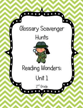 Common Core Reading Wonders Glossary Scavenger Hunts Unit 1