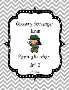 Common Core Reading Wonders Glossary Scavenger Hunts Unit 3