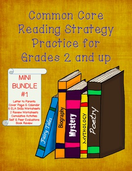 Common Core Reading and Writing Strategy Practice - MINI BUNDLE