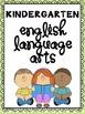 Common Core Reference Pack: Kindergarten English Language Arts