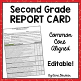 Standards Based Common Core Report Card, Second Grade ~ Fu