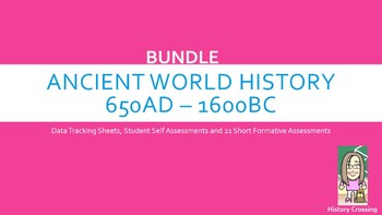 'I Can Statements' SS Mastery Bundle for 7th Grade