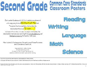 Common Core Second Grade Posters (I can...) Special Editio