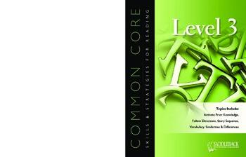 Common Core Skills & Strategies for Reading Level 3