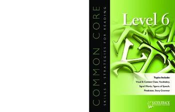 Common Core Skills & Strategies for Reading Level 6