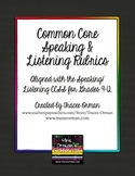 Common Core Speaking & Listening Rubrics Bundle Grades 9-12