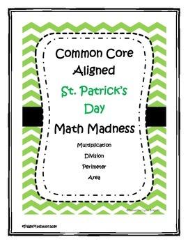 Common Core St. Patrick's Day Math - Division, Multiplicat