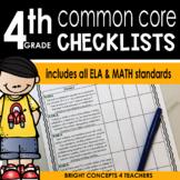 Common Core Standards Checklist-Fourth Grade