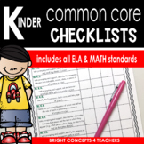 Common Core Standards Checklist-Kindergarten