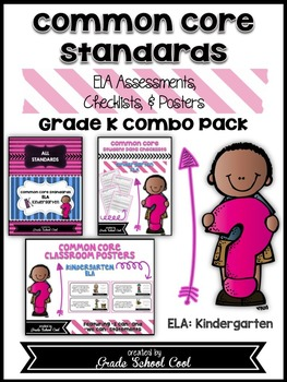 Common Core Standards: ELA Assessments, Checklists, & Post