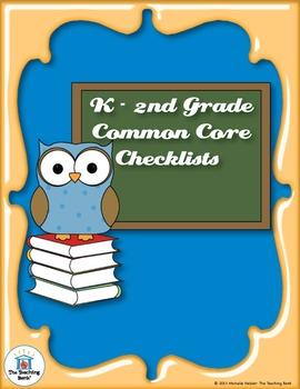 Common Core Standards ELA & Math Checklist for Kindergarte
