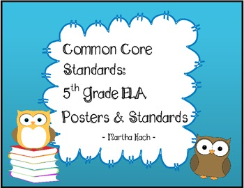 Common Core Standards Language Arts Posters & Cards - Owl/