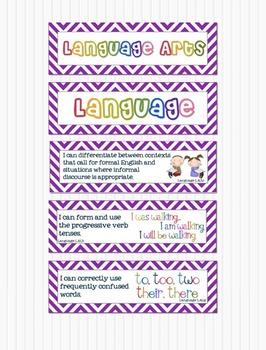 Common Core Standards Math and Language Arts 4th Grade - P