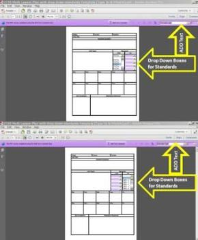 Common Core Standards Math with Drop Down Lesson Unit Plan