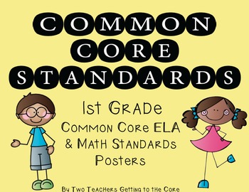 Common Core Standards Poster & Cards for 1st Grade ELA & M