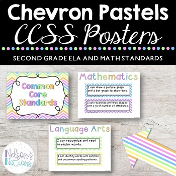 Common Core Standards Posters - CHEVRON THEMED - Second Gr