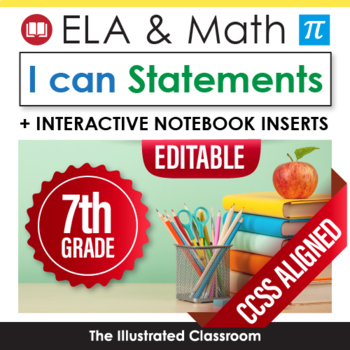 Common Core Standards I Can Statements for 7th Grade - Full Page
