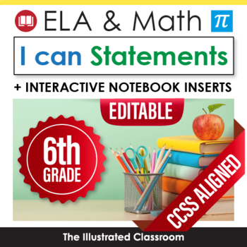 Common Core Standards I Can Statements for Sixth Grade - F
